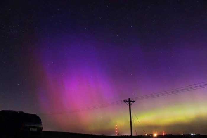 7. This stunning view of the Northern Lights over central Iowa this June.