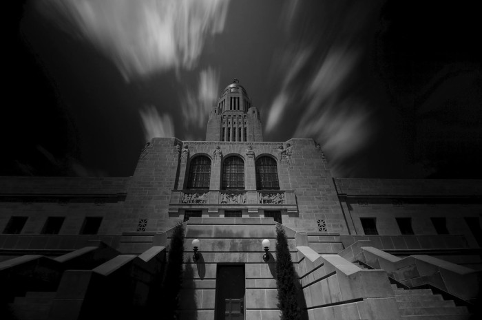 11. We didn't think the entrance of the capitol building could look quite this foreboding.