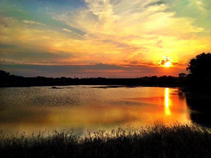 7. What a serene sunset over Bowling Lake in Lincoln.
