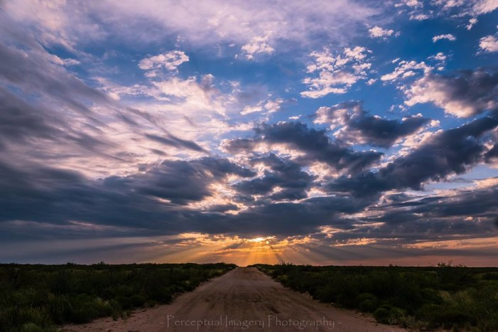 5) Look at those gorgeous sun rays beaming down from behind the clouds in Odessa, TX. Taken by Albert Andrade.