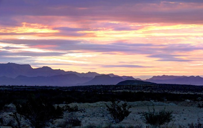 8) This sunrise over Terlingua was beautifully captured, thanks to Clark Thompson!