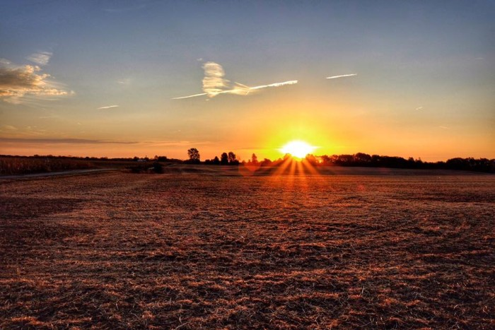 10. Paul McBride also submitted a picture of a sunrise at Madison County to our Facebook page. How pretty!