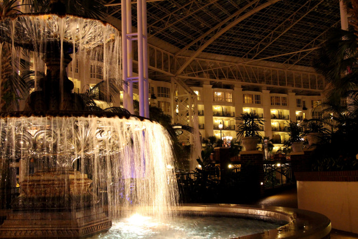 12) This night shot from the Opryland Hotel makes the entire place look magical.