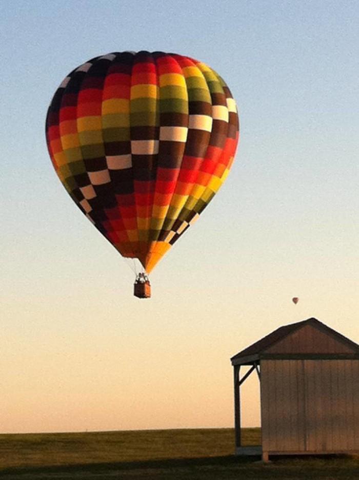12. The hot air balloon ride date.