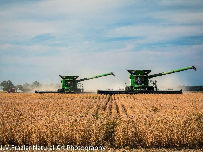 "6. Jeff Fraizer shared a picture of ""harvest time"" in Howard County with us. This is what Indiana is all about!"