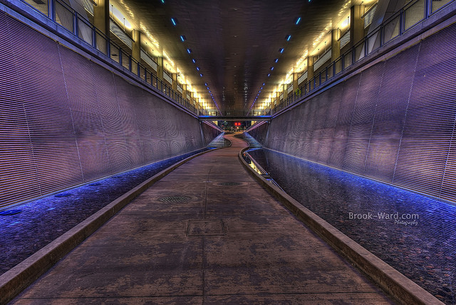 7. This funky path winds underneath the Convention Center in Pittsburgh.