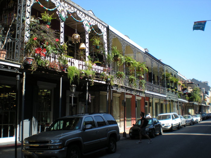 5) The architecture in the French Quarter of New Orleans is primarily Spanish.