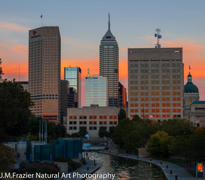 3. Jeff Frazier shared a nice shot of the central canal in downtown Indianapolis with us.