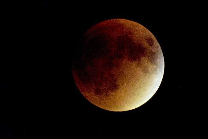 10. This entrancing shot of the blood moon taken in Le Mars.
