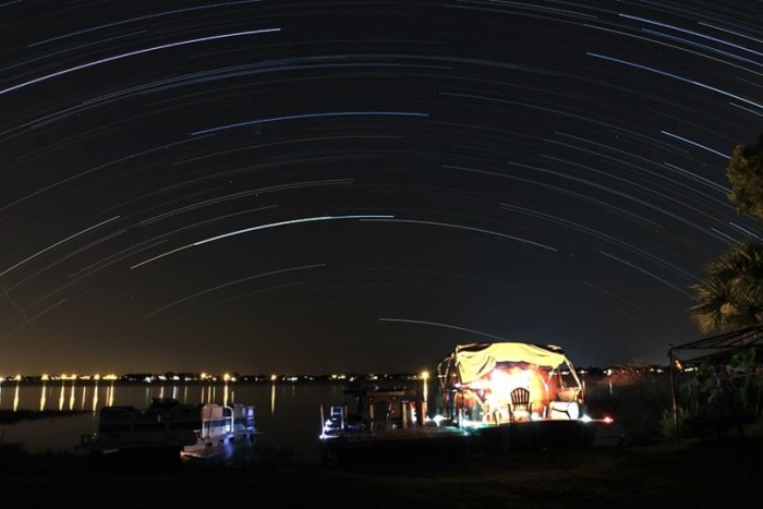 12. Thank you, Scott Truesdell, for this shot of star trails over Winter Haven.