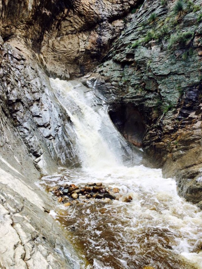 18. Fry Mesa waterfall at Mount Graham looks especially refreshing after a hot day!