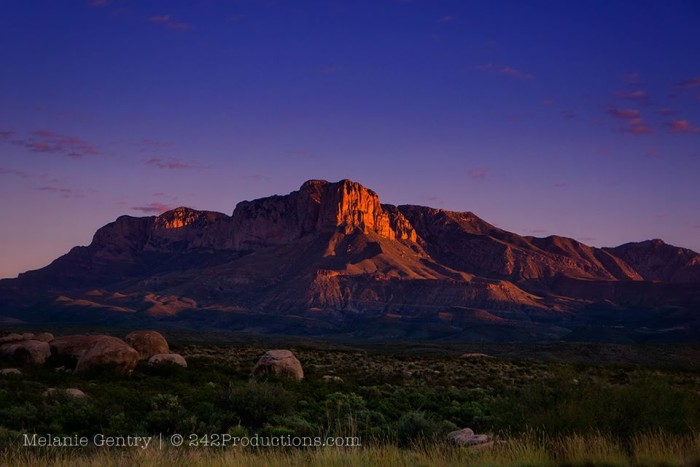 15) Melanie Gentry takes an exceptional photo of El Capitan in Guadalupe Mountains National Park in the early morning light.