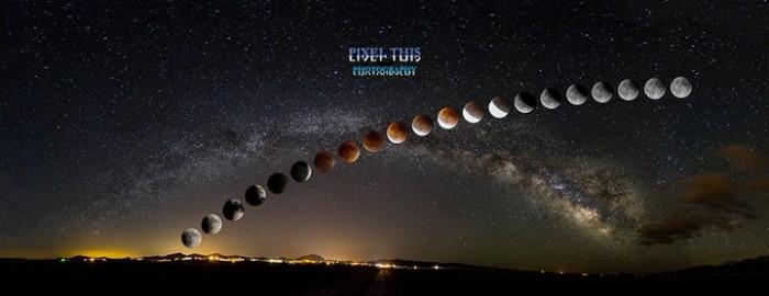 3. Lunar eclipse over Colorado.