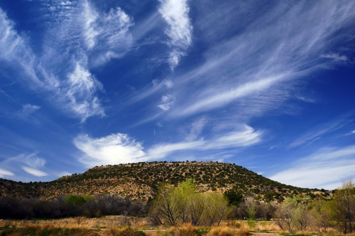 9. Tom sent us this photo of the landscape near Page Springs. The wispy clouds are a great contrast to the landscape below it.
