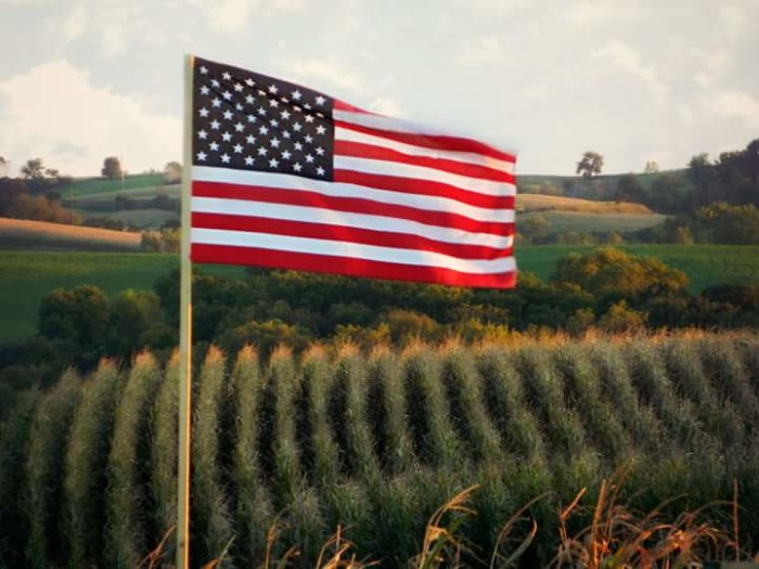 4. Susan Lee Zeman took this picture-perfect shot of a flag and field near Denison.