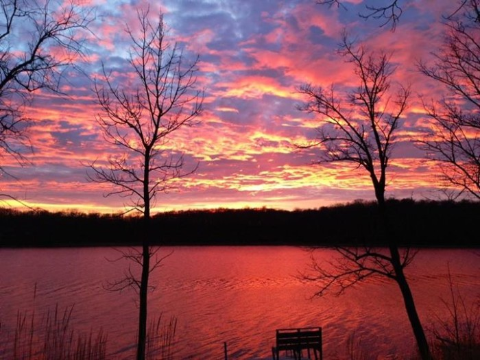 4.  Teresa Norwig managed to snap this amazing sunset photo of Malmedal Lake on the way home from Starbucks!