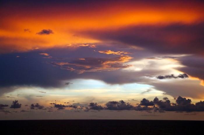 9. Thank you, Carl McCaskey, for submitting this shot of the sunset at Jacksonville Beach.