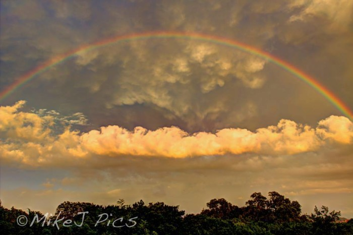 12) Also taken by Mike Jones, isn't this rainbow captured in Leon Springs after a storm just breathtaking?