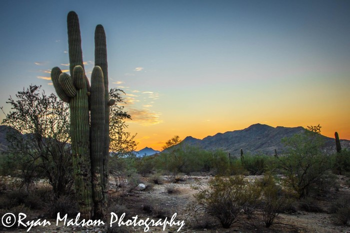 7. Sunset photos are something we never get tired of. Here's one view of South Mountain at sunset.