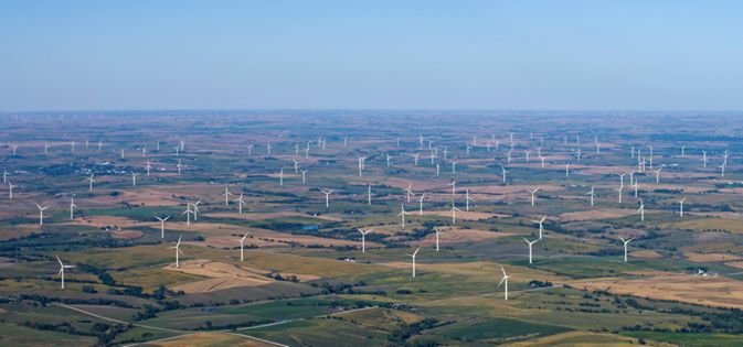 5. Kelly Taber shared this amazing view of the wind farm near Adair.