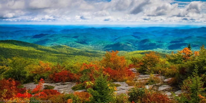 5. 'Fall on the Blue Ridge Parkway' captured by Nomadic Traveler Photography.