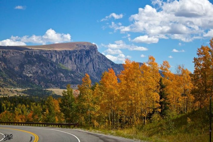 """10. """"Even the highway drives are beautiful in Colorado. Bristol Head viewed from Hwy 149 going into Creede."""""""
