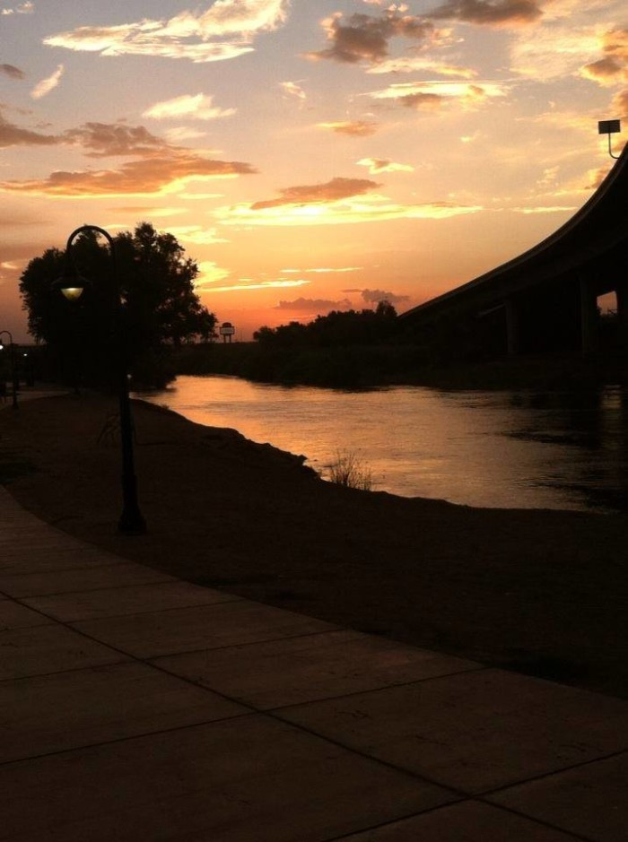 17. Here's an image of sunset in Yuma at Gateway Park.