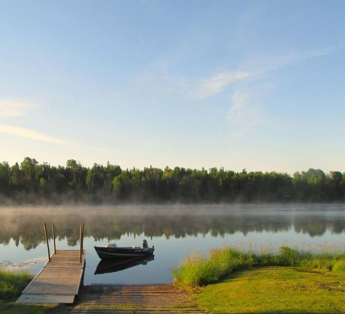 13. Dawn Price found the most serene spot in Northern MN to snap a photo of the morning fog!