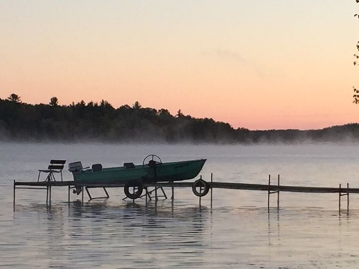 7. Dale Gagnon perfectly photographed the mist on the lake in this shot!