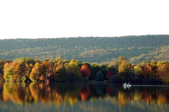 20. A still day on Memorial Lake.