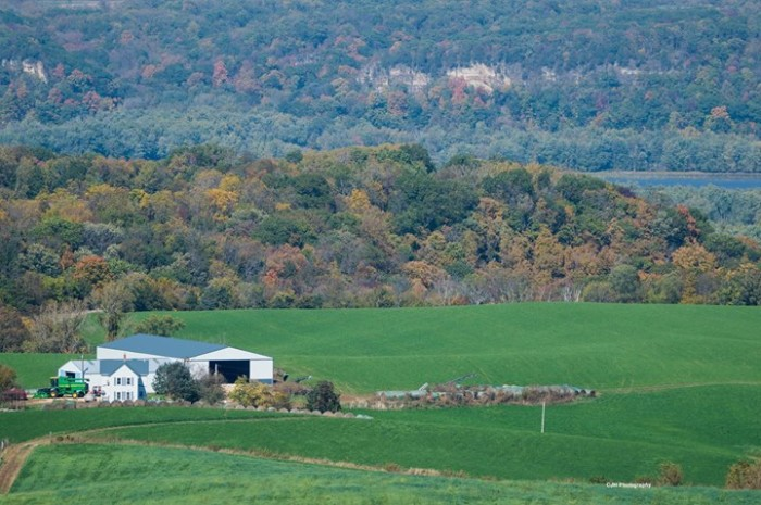6. Chuck Hackenmiller shared this lovely photo of the fall colors along the Great River Road.