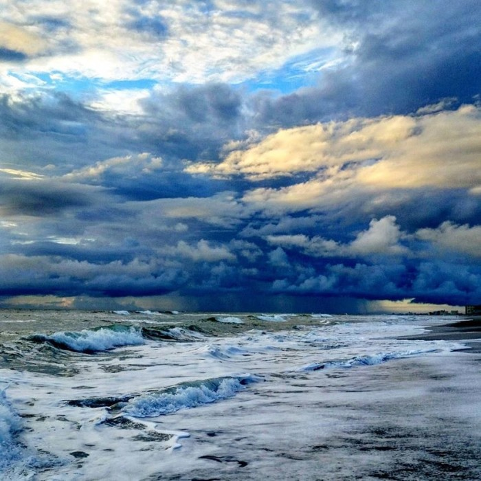 6. Joan Sherry-Cute submitted this breathtaking photo of a storm on the horizon in Satellite Beach.