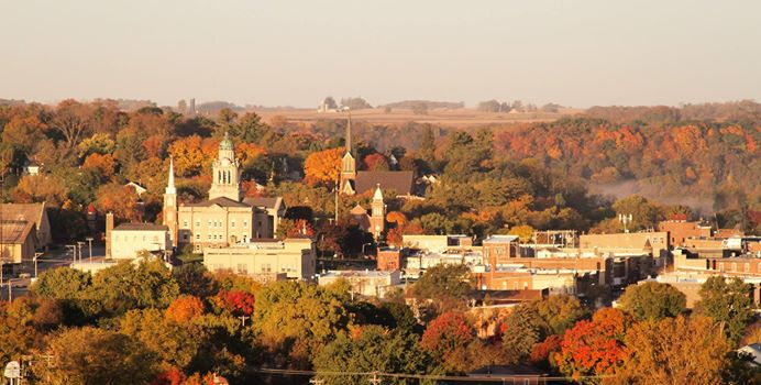 7. Brian Peterson snapped a picture of the view in the picturesque city of Decorah.