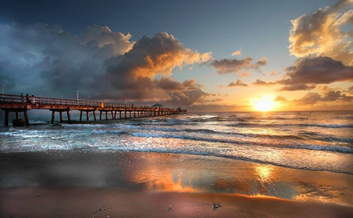 16. Larry Warsh captured this jaw-dropping shot of sunrise at Pompano Beach.