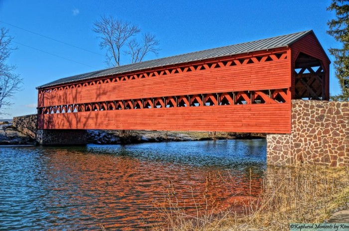 15. Kim L. Woltman got this groovy shot of the Sachs Covered Bridge in Gettysburg.