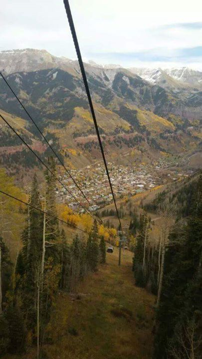 13. Going up, up, up over Telluride!