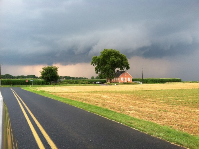 16. A thunderstorm rolls into Oley.
