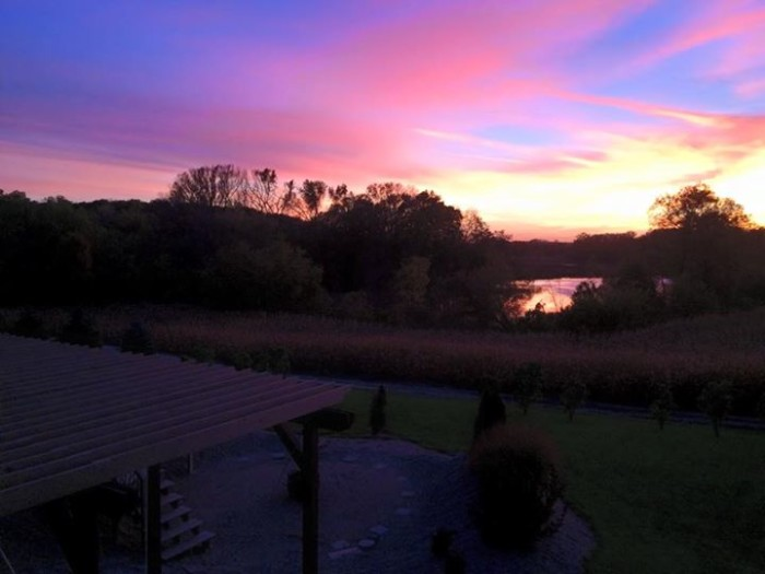 13.  Denise David took a stunning picture of the sunset over The Cranberry Bog in Elysian.