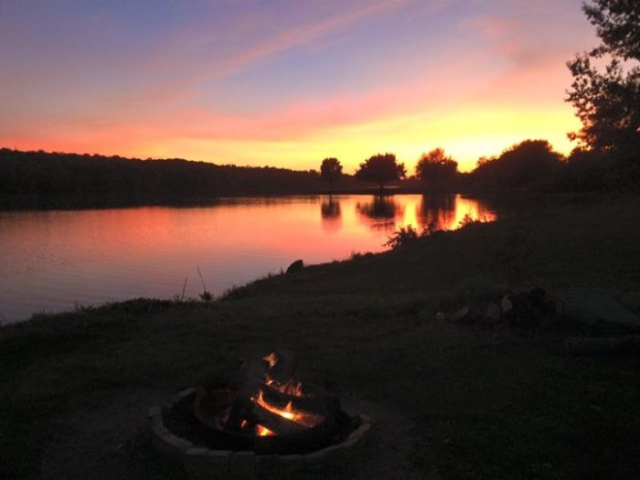 9. Betty Danford shared this picture-perfect scene of the sun setting on Easter Lake.