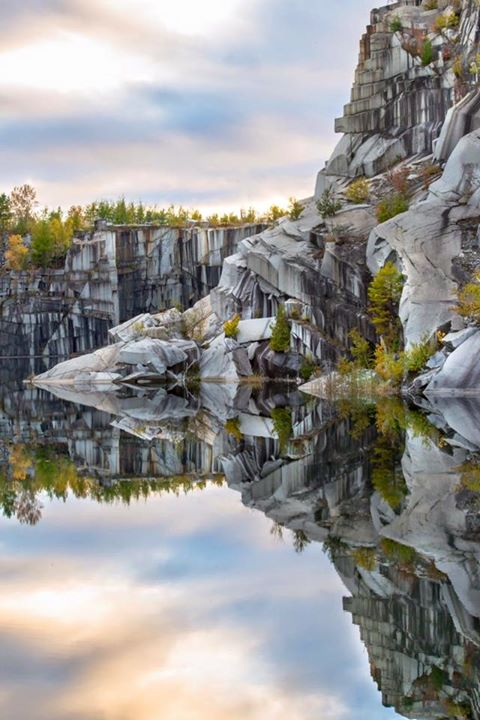 5) This insanely perfect reflection at the quarries, by Alison Rousseau White.