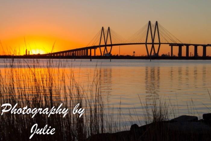 3) Gorgeous picture of the Fred Hartman Bridge in Baytown taken by Julie O'Daniel Glenn!
