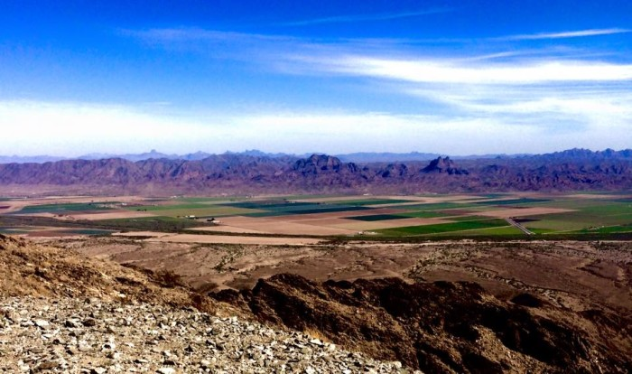 5. Here is a view from the top of Telegraph Pass in Yuma. Fun fact: this was named for an old military telegraph line that ran from Maricopa Wells to Phoenix in this area.