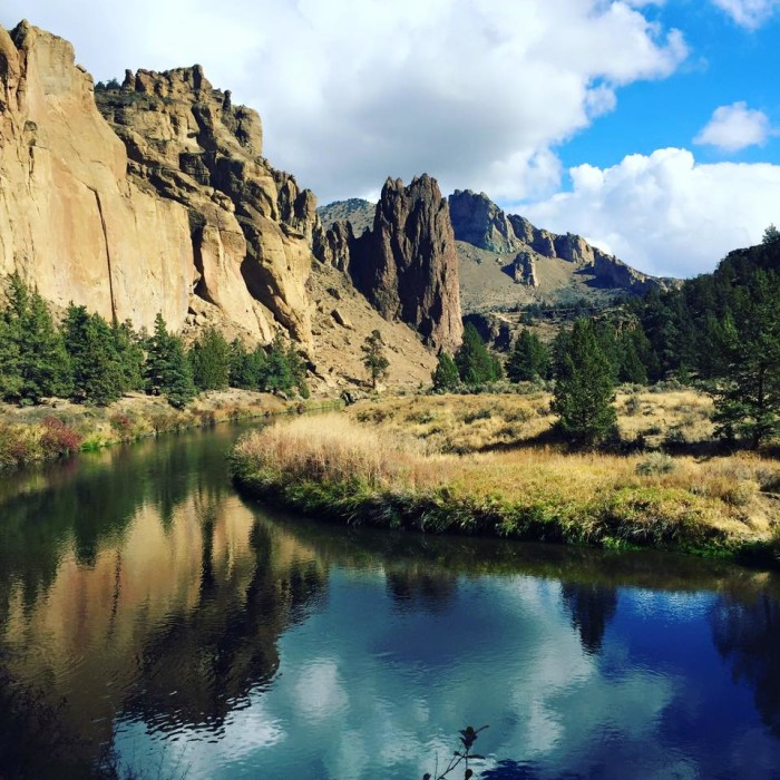 2) A view of Smith Rock, photographed by Amy Combs Whitmore.