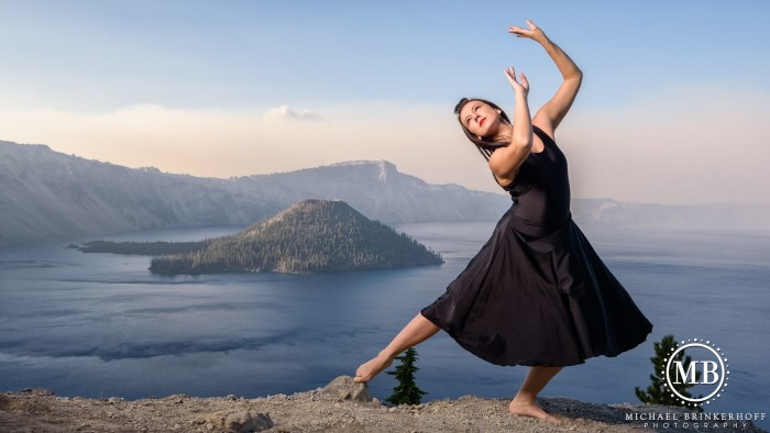 6) A dancer at Crater Lake by Michael Brinkerhoff.