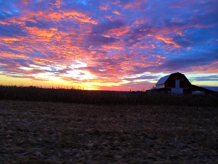 12. Kenny Parsons has shared a very colorful picture of North Salem with us. I'm loving the colors of the sky!