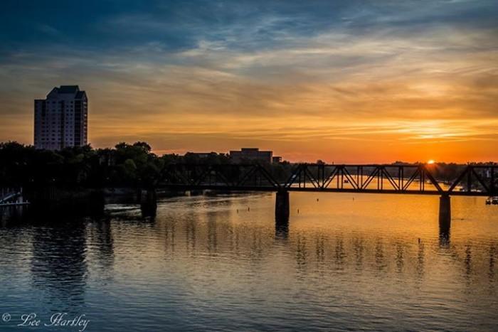 7. Savannah River sunset looking into Augusta, GA... by Lee Hartley