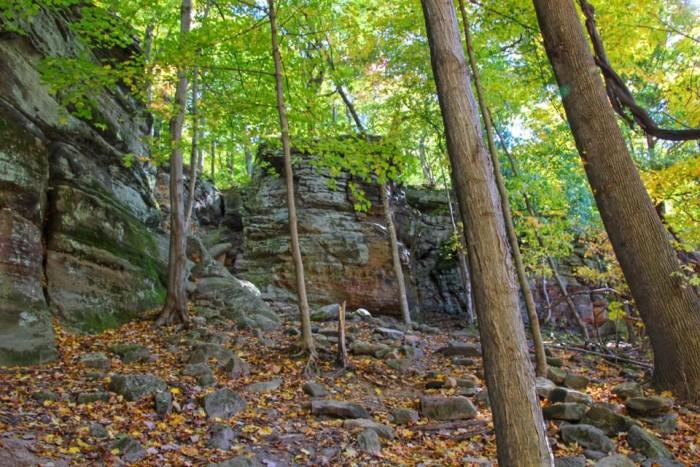 8. The ledges at Hinckley Reservation in Cleveland Metroparks