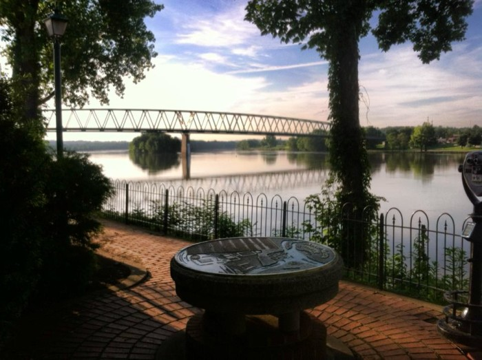 15. View from behind the Historic Lafayette Hotel in Marietta, OH