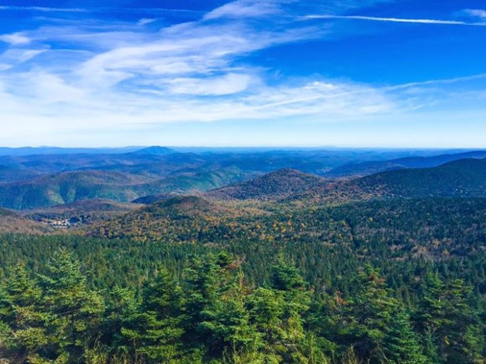 2) You can see for miles in this powerful shot by Heather Metzler at the top of Killington Mountain.
