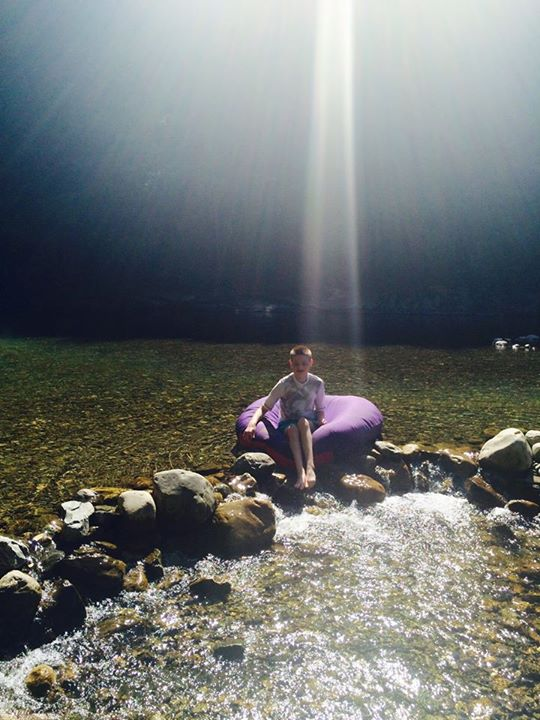 15) Kathleen Roy O'Brien catches this angelic moment as the sun beams down right over this boy.